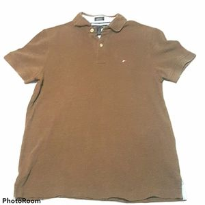 Men's brown Tommy Hilfiger polo